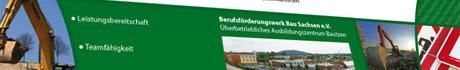 Flyer für Berufsförderungswerk Bau Sachsen e.V.