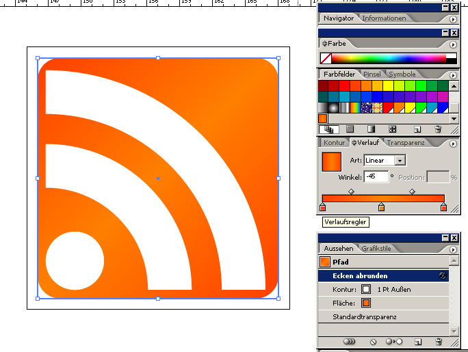 Simple RSS-Button - Farbgebung