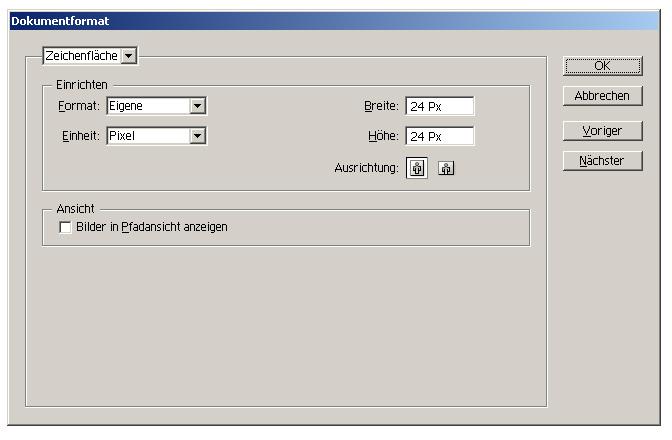 Simple RSS-Button - Arbeitsfläche einrichten