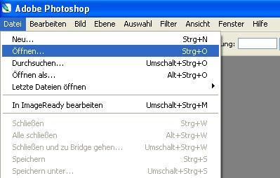 Photoshop - Datei öffnen