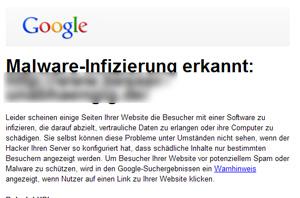 Malware-Infizierung erkannt